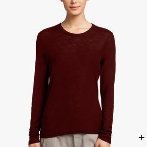 James Perse Sheer Slub Long Sleeve Crew